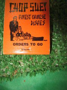 Chop Suey Finest Chinese Dishes KING YIN LODI, CA Matchbook Kitschy #kookykitsch