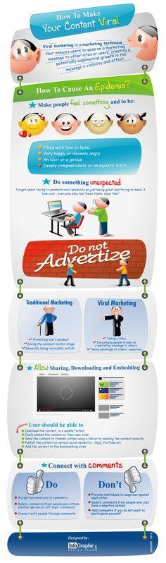Infografía: Como crear contenidos virales.