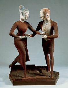 Elie Nadelman  Tango  c. 1919 (carved)  Interesting idea for interaction of 2 figures.