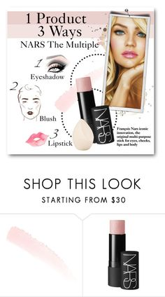 """""""1 Product 3 Ways NARS The Multiple"""" by lalalaballa22 ❤ liked on Polyvore featuring beauty, NARS Cosmetics, Christian Dior, Beauty and twoways"""