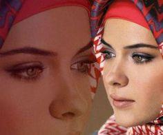 Kapalı Bayan Nasıl Makyaj Yapmalı Göz Makyajı Örneği