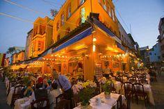 outdoor restaurants, istanbul, turkey
