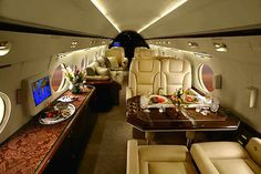 15 Most Luxurious Helicopters and Private Jets Owned by Celebrities! published i. - 15 Most Luxurious Helicopters and Private Jets Owned by Celebrities! published in Pouted Magazine L - Jets Privés De Luxe, Luxury Jets, Luxury Private Jets, Private Plane, Luxury Yachts, Gulf Stream Jet, Avion Jet, Gulfstream Iv, Executive Jet