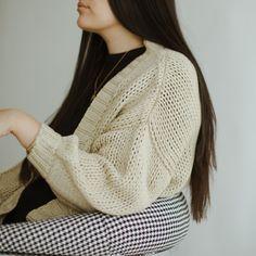 Bodi Cardigan - Neutral – beiged Crochet Top, Neutral, Pullover, Wool, Knitting, Sweaters, Fashion, Moda, Tricot