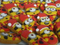 Minion Christmas Cookies by Noey's Cookies