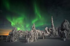 Northern lights in Finnish Lapland by Visit Finland, via Flickr