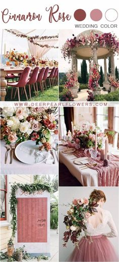 d39bf16e6407 Wedding Color Trends  25 Cinnamon Rose Wedding Color Ideas