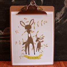 D is for Deer print