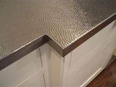 {hammered stainless steel countertop}