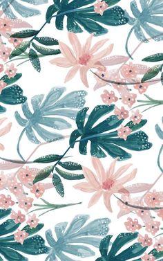 Resultat d'imatges de tropical green and pink patterns