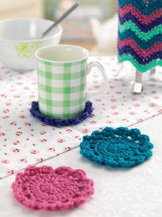 Crochet circular coasters Crochet Pattern