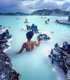 Blue lagoon, Iceland. I think I've already posted something about the blue spa lagoon but it just looks so gorgeous!