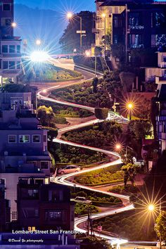 "Lombard Street in San Francisco has earned the nickname of being the ""most crooked street in the world."" It consists of eight hairpin turns, and has been featured in all sorts of movies, tv shows, and video games."