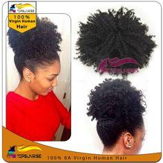 Top Quality Afro Curly Hair Ponytaik 100 Virgin Human Drawstring Ponytail