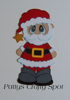 Items similar to Bobble Buddies Santa Christmas Paper Piecing by Pattys Crafty Spot on Etsy Christmas Paper Crafts, Christmas Clipart, Christmas Wood, Santa Christmas, Handmade Christmas, Holiday Crafts, Christmas Decorations, Christmas Ornaments, Paper Piecing Patterns