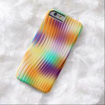 Purple Orange Turquoise Abstract Swirl Pattern iPhone 6 Case