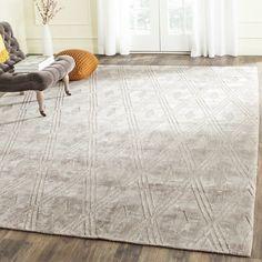 Safavieh Handmade Mirage Modern Grey Wool/ Viscose Rug (6' x 9')