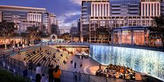 Dalma Mall on Behance Condominium Architecture, Retail Architecture, Architecture Visualization, Green Architecture, Landscape Architecture, Architecture Design, Plaza Design, Mall Design, Future Buildings