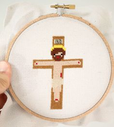 crucifixion cross stitch pattern
