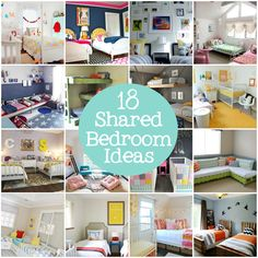 18 shared bedroom ideas for kids via lilblueboo.com    Don't get any funny ideas @Ashley Walters Walters Walters Silveira
