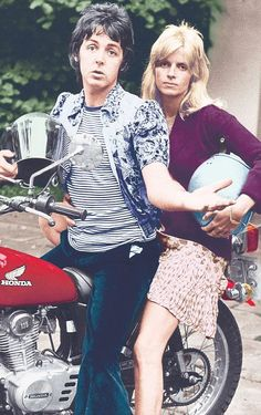 Paul and Linda McCartney.