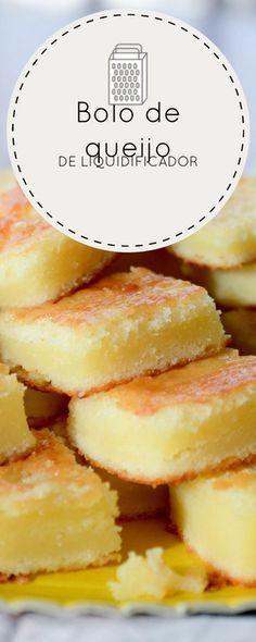 Receita de bolo de queijo feito no liquidificador