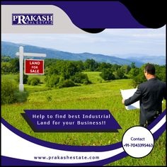 Help to find best Industrial Land for your Business!!  Prakash Estate is best industrial land agent help you to find the perfect industrial property. we help to get a deal with owners with all paperwork and documents.  http://www.prakashestate.com/industrial-land  #IndustrialLandAgent #IndustrialLandforSale #prakashestate