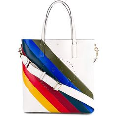 Designer Tote Bags - Designer Bags for Women White Tote Bag, White Handbag, White Leather Handbags, Leather Purses, Rainbow Bag, White Purses, Tote Handbags, Tote Bags, Leather Shoulder Bag