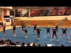 Waynesville High School Comp Cheer Ground Bound 12.10.2017 - YouTube Cheer Stunts, Cheer Dance, Cheerleading, Cheer Routines, Nfl Cheerleaders, Competition, Coaching, High School, Basketball Court