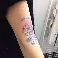 hydrangea  Tattooist Hongdam   Seoul, Korea