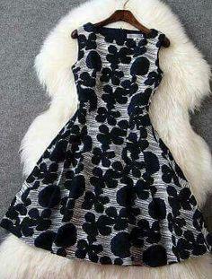 Round Neck Sleeveless Dress Three-Dimensional Flowers on Luulla Chic Dress, Dress Skirt, Dress Up, Casual Dresses, Short Dresses, Fashion Dresses, Sleeveless Dresses, Prom Dresses, Formal Dresses