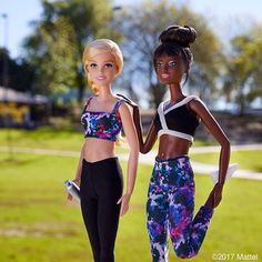 WEBSTA @ barbiestyle - Ready for our weekend workout. Grab a friend and get moving!  #barbie #barbiestyle