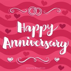 Happy anniversary pink background Free V. Anniversary Quotes For Couple, Happy Wedding Anniversary Wishes, Anniversary Greetings, Happy Wedding Day, Happy Birthday Greetings, Anniversary Meme, Anniversary Message, Happy Aniversary, Mother Day Wishes