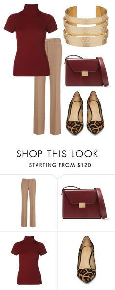 """""""muted deep 3"""" by alexa-vrabel ❤ liked on Polyvore featuring Victoria Beckham and MICHAEL Michael Kors"""