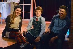 Cozi Zuehlsdorff (far left) with Mighty Med castmates