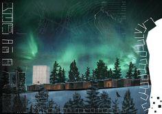 2012 | Competition. OBA for Archmedium. Project for an observatory for the Aurora Borealis in Rovaniemi, Finland.  project giulio pandolfi filippo pecorai alessio piomboni francesco polci