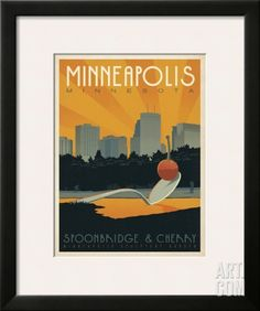 Minneapolis, Minnesota: Spoonbridge & Cherry Framed Art Print by Anderson Design Group at Art.com