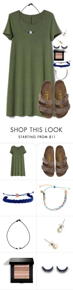 """Exact OOTD for going to my Tennis Banquet:)"" by flroasburn on Polyvore featuring Gap, Birkenstock, Domo Beads, Pura Vida, J.Crew and Bobbi Brown Cosmetics"