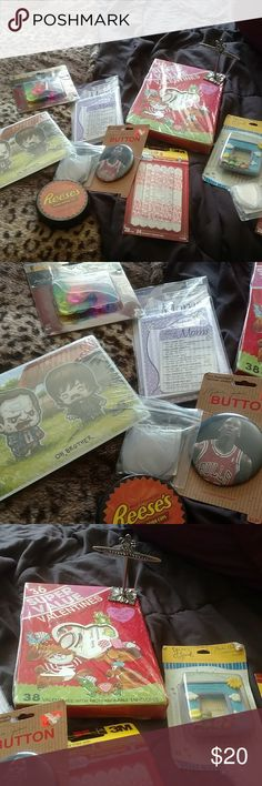 Large miscellaneous Home Products bundle You receive everything shown everything is Factory sealed 12 pack. Beanie Baby tag protectors 3M command strips Walking Dead golf tees and more Other