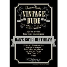 Gather guests to celebrate your guy�s next milestone birthday. Our Vintage Dude Personalized Invitation is printed with all of your important event details on high-quality 110lb cardstock. Details atop the custom invite coordinates nicely with the whisky label design of the Vintage Dude birthday party theme. Each personalized invitation measures 5 inches x 7 inches, is sold individually, and includes a white envelope for mailing. Orders placed for personalized items before 3:00 pm EST will…