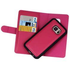 b50691b1dfa Funda Samsung Galaxy S7 carcasa para el móvil tipo cartera cuero simil piel  mujer moda diseño