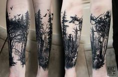 Woods, sleeve tatoo
