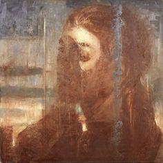 'Desire is no shadow, 3', 1987 - Omar Galliani (b. 1954)