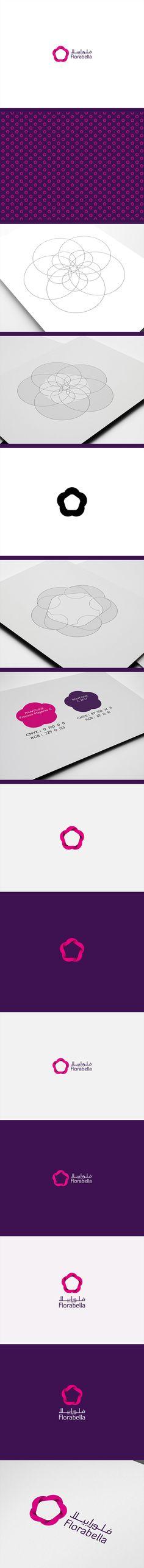 Florabella Identity // Branding by Mohd Almousa, via Behance