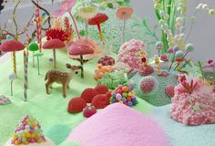 Fun inspiration for gingerbread house alternatives/ add-ons  colorful-candy-installations-1