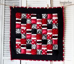 Rubies Puff Quilt--perfect for a minnie mouse theme