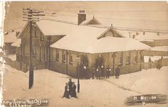 Old Post Office - snow! (Lithgow & District Family History Society Inc.)