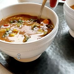 Cancer-Fighting Soup is chock full of vegetables, lentils, and black beans that science has shown helps fight inflammati Soup Recipes, Diet Recipes, Vegetarian Recipes, Cooking Recipes, Healthy Recipes, Freezer Cooking, Freezer Meals, Healthy Soup, Healthy Eating