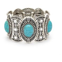 Sole Society Turquoise Chunky Bracelet (2.405 RUB) ❤ liked on Polyvore featuring jewelry, bracelets, turquoise, boho style jewelry, chunky bangles, turquoise bangle, chunky turquoise jewelry and bohemian jewellery