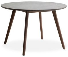 Outdoor Furniture - Santo Outdoor Round Dining Table - Cement and Natural